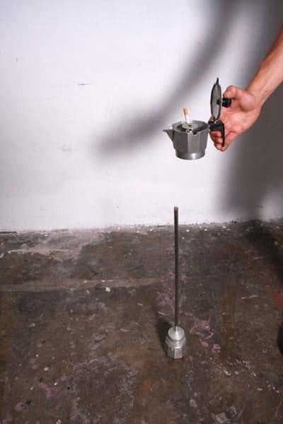 Coffee Maker Repurposed Into Ashtray