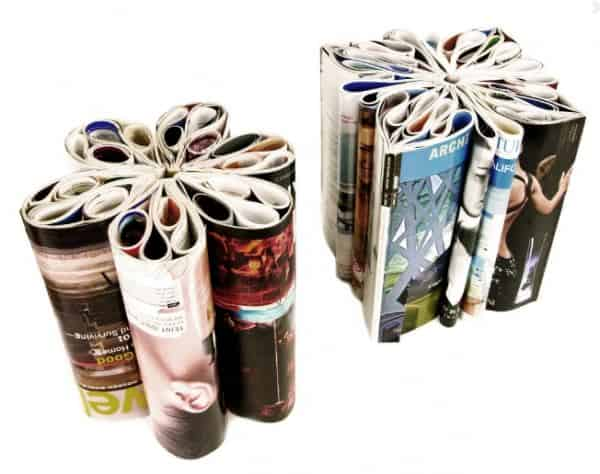Magazines Stool Recycled Furniture Recycling Paper & Books