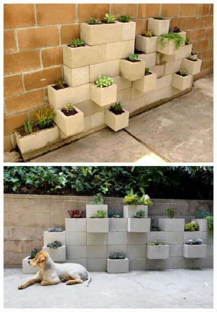 Diy: Modern Planter From Upcycled Cinder Blocks