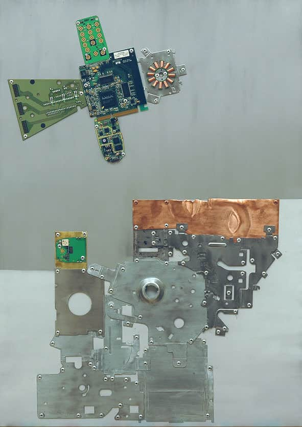 21 Pictures of Woman's Life Recycled Art Recycled Electronic Waste