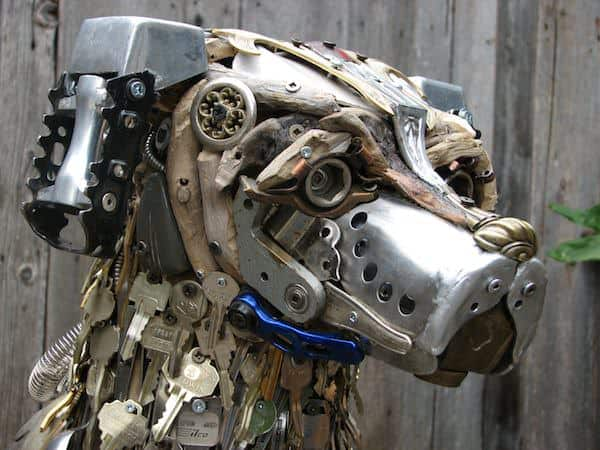 Sculptures by Nathalie Trepanier Recycled Art
