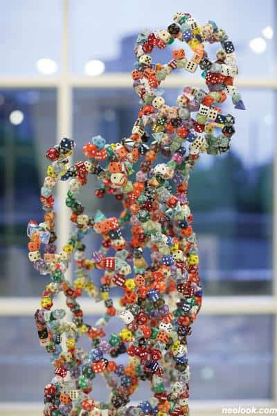 Dice Sculptures Recycled Art Recycled Plastic