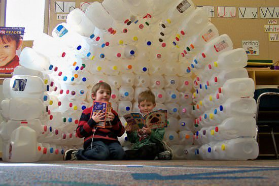 Milk Jug Igloo Do-It-Yourself Ideas Recycled Packaging Recycled Plastic
