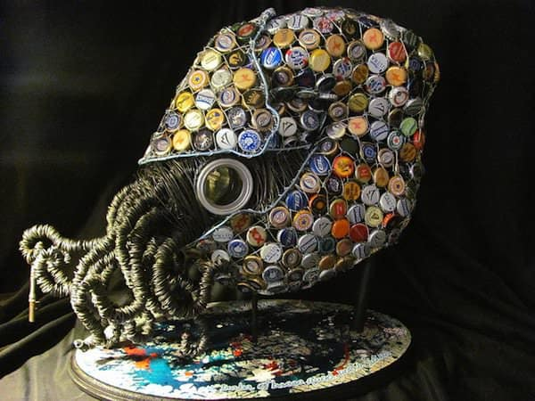 Nautilus Recycled Art