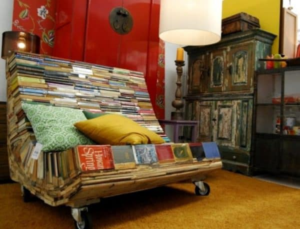 Bench of Thought Recycled Furniture Recycling Paper & Books Wood & Organic