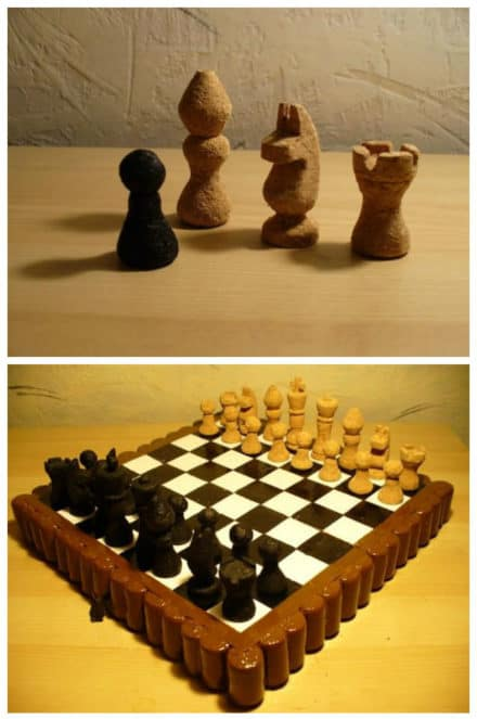 Chess Set Made of Corks