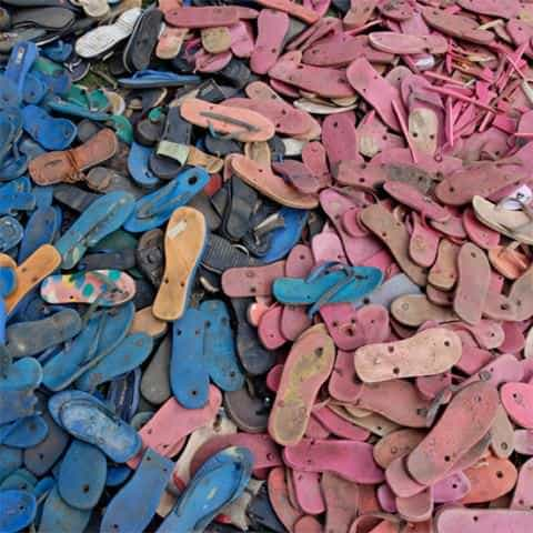 Flip-flop Story Accessories Interactive, Happening & Street Art Recycled Plastic