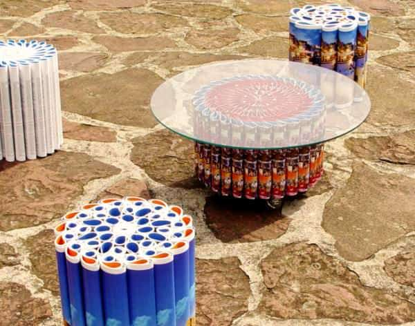 The Mandala Series Recycled Furniture Recycling Paper & Books