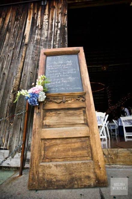 Old Door Reused Into Restaurant Menu