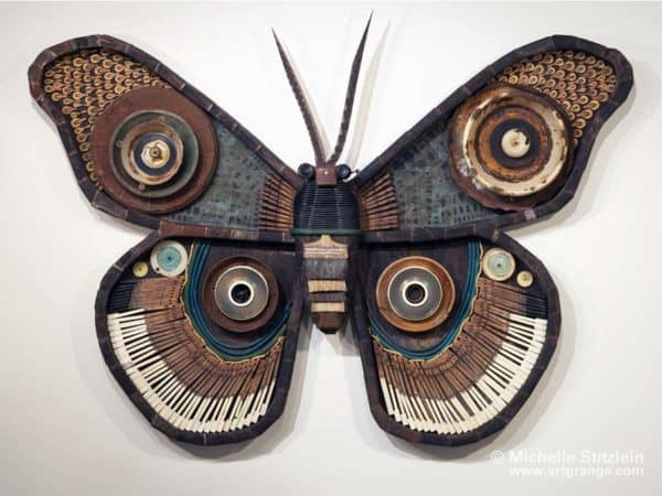 Butterfly Of The Trash By Michelle Stitzlein Recycled Art