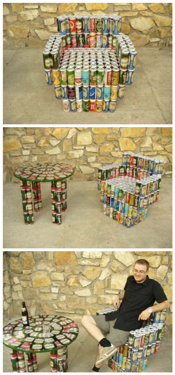 Beer Cans Into Furniture Recyclart