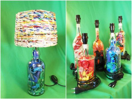 Recycled Plastic Beach Into Desk Lamps
