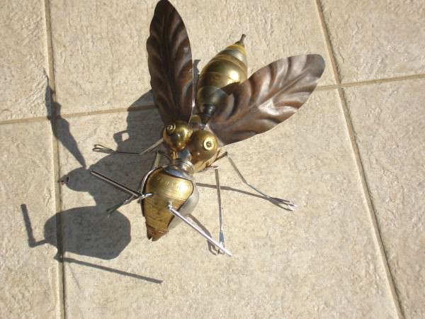Recycled Wasp Recycled Art