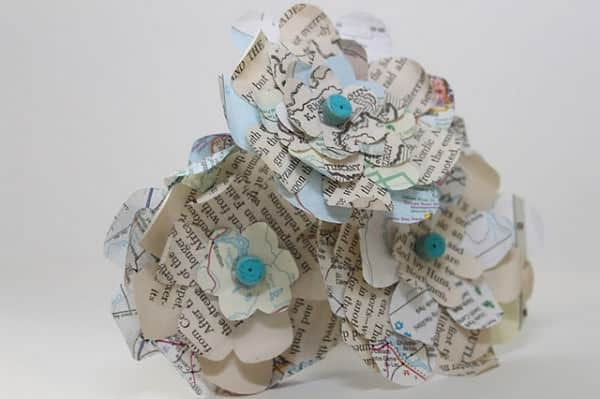 Atlas Paper Flowers Recycled Art Recycling Paper & Books