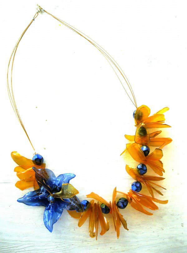 Jewelry from Plastic Bottles Recycled Plastic Upcycled Jewelry Ideas