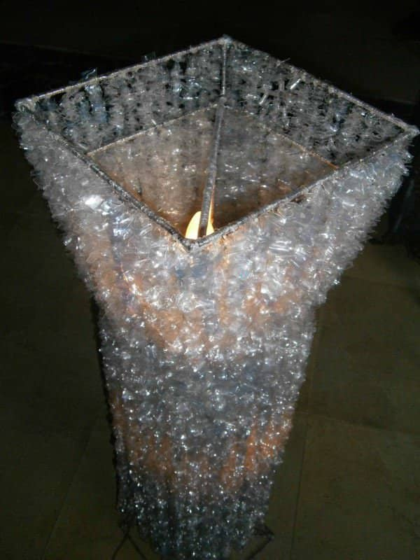 Alternative Crystal Lamp From Recycled Plastic Bottles Lamps & Lights Recycled Plastic