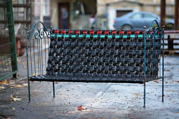Rubber Glory: Outdoor Bench From Recycled Inner Tubes Recycled Furniture Recycled Rubber