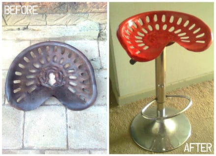 Tractor Seat Into Design Bar Stool