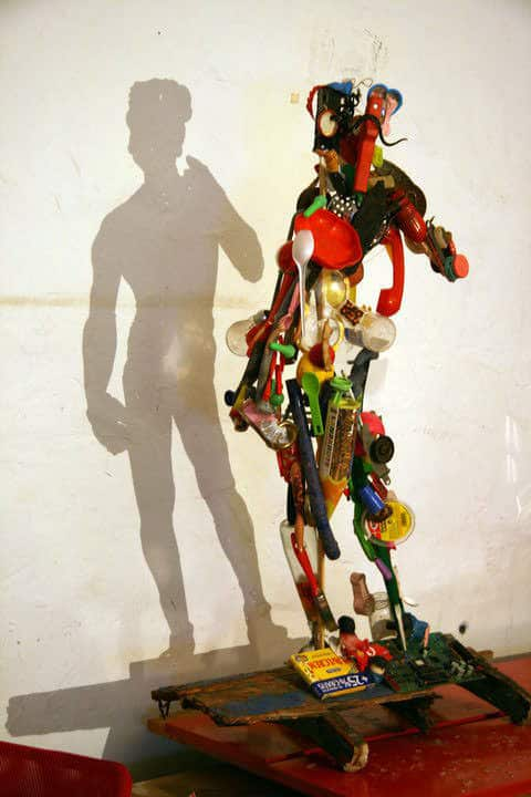 Shadow Statue Recycled Art