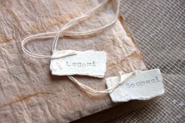 Legami Sospesi – Teabags Artist's Book Recycled Art Recycling Paper & Books