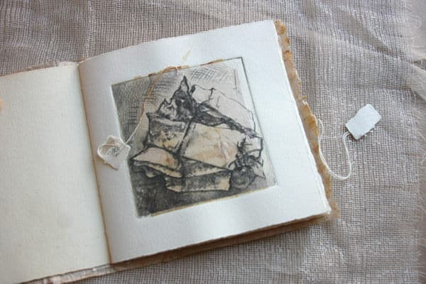 Legami Sospesi - Teabags Artist's Book Recycled Art Recycling Paper & Books