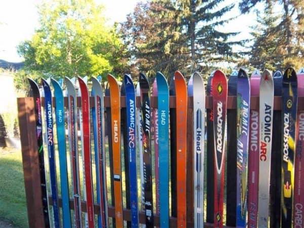 Snow Ski Fence Do-It-Yourself Ideas