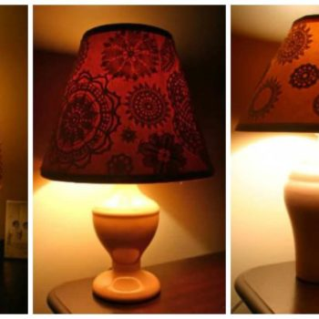 Crochet Doily Decorated Lampshades