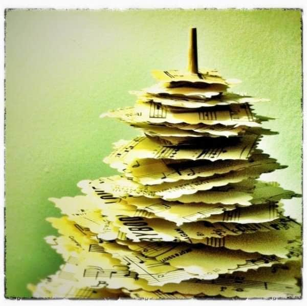 "Diy: Make A Paper Pine Tree"" From Upcycled Materials Do-It-Yourself Ideas Recycling Paper & Books"
