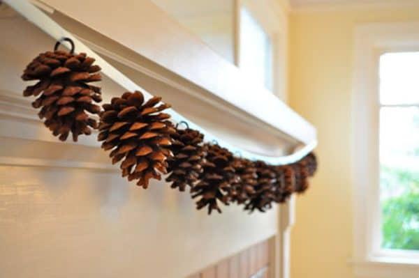 Diy: Pine Cones Garland