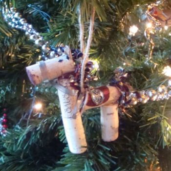 reSausaled Ornaments Made From Tasting Room Waste Products