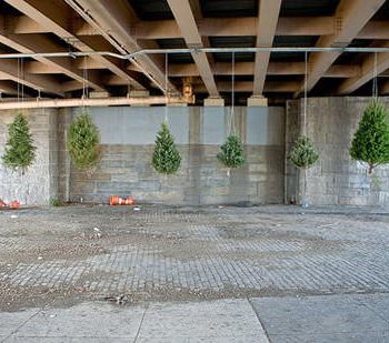 Recycled Christmas Tree Installation by Michael Neff
