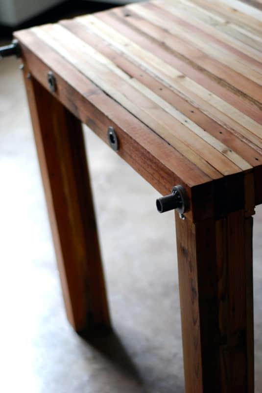 Reclaimed Wood Table Recycled Furniture Wood & Organic