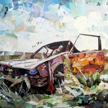 Amazing Recycled Magazine Collage Art