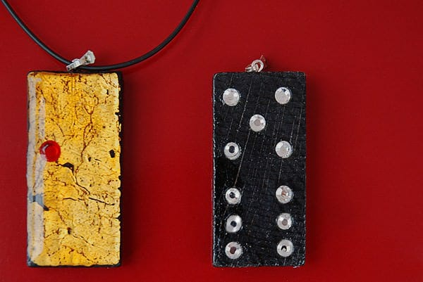 Domino Upcycled Into Pendant Upcycled Jewelry Ideas