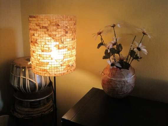 Reused Coffee Filter Lamp