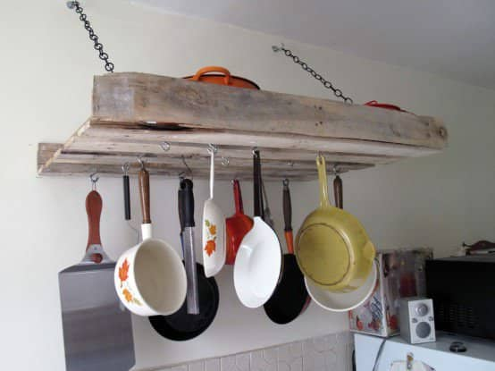 Pallet Rack for the Kitchen Do-It-Yourself Ideas Recycled Pallets Wood & Organic