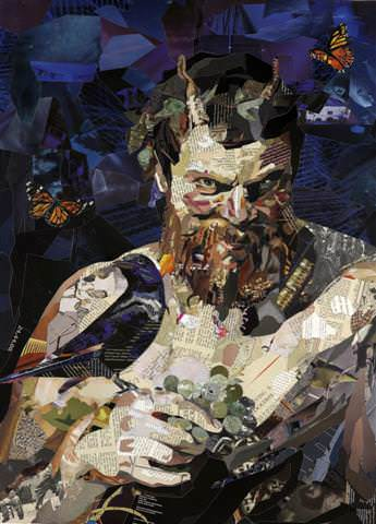 Amazing Recycled Magazine Collage Art Recycled Art