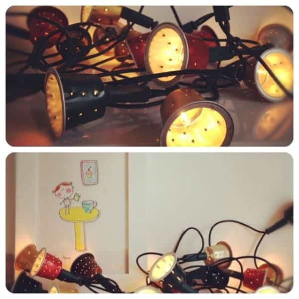 Nespresso Caps Upcycled into Garland Lamps & Lights Recycled Packaging
