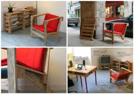 Recycled Pallet Armchair