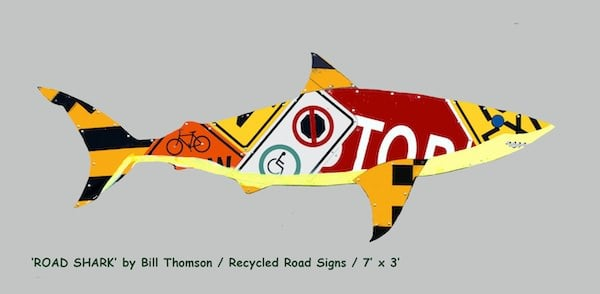 Road Shark Recycled Art Recycling Metal