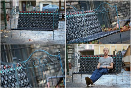 Rubber Glory: Outdoor Bench From Recycled Inner Tubes