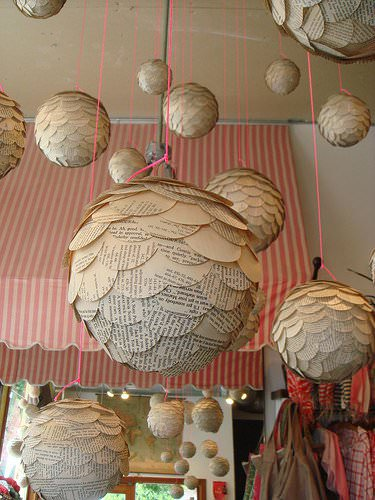 Paper Globes Do-It-Yourself Ideas Recycled Cardboard Recycled Furniture Recycling Paper & Books