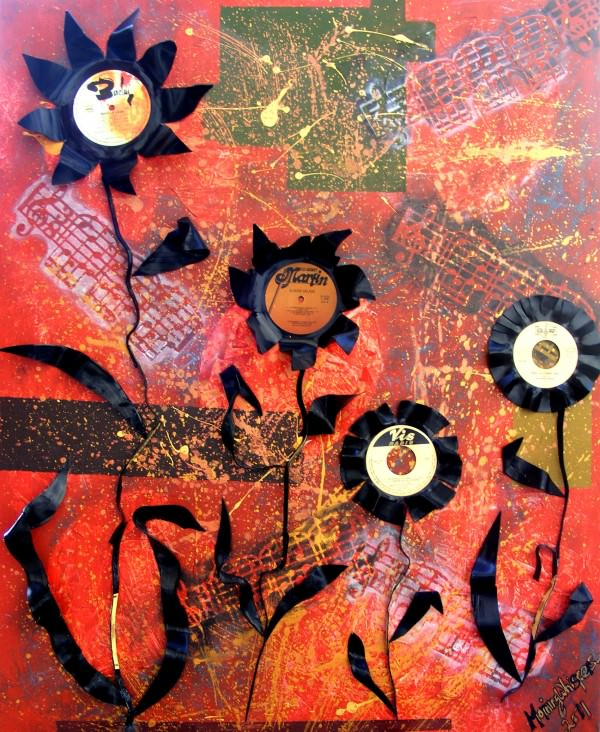 Mirage Recycled Art From Junk Materials Recycled Art Recycled Vinyl