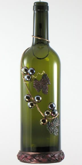 Hanging Wine Bottle Illuminations Lamps & Lights Recycled Glass