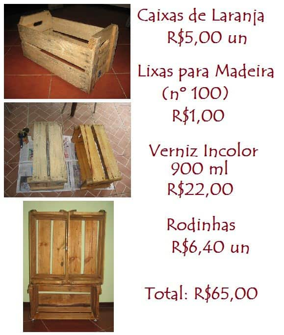 Orange Wooden Crate Recycled Furniture Wood & Organic