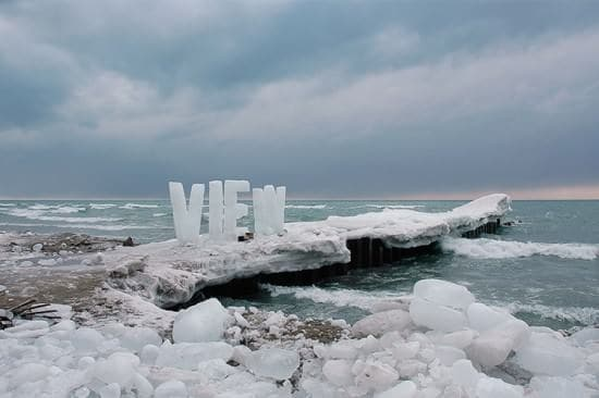Ice Typography Interactive, Happening & Street Art Recycled Art Wood & Organic