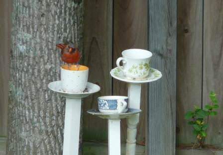 Diy : Tea Cup Bird Feeder Garden Ideas