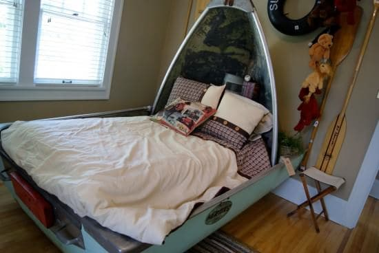 Upcycled Boat Into Bed