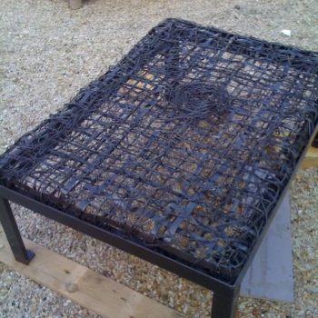 Iron string, coffee table