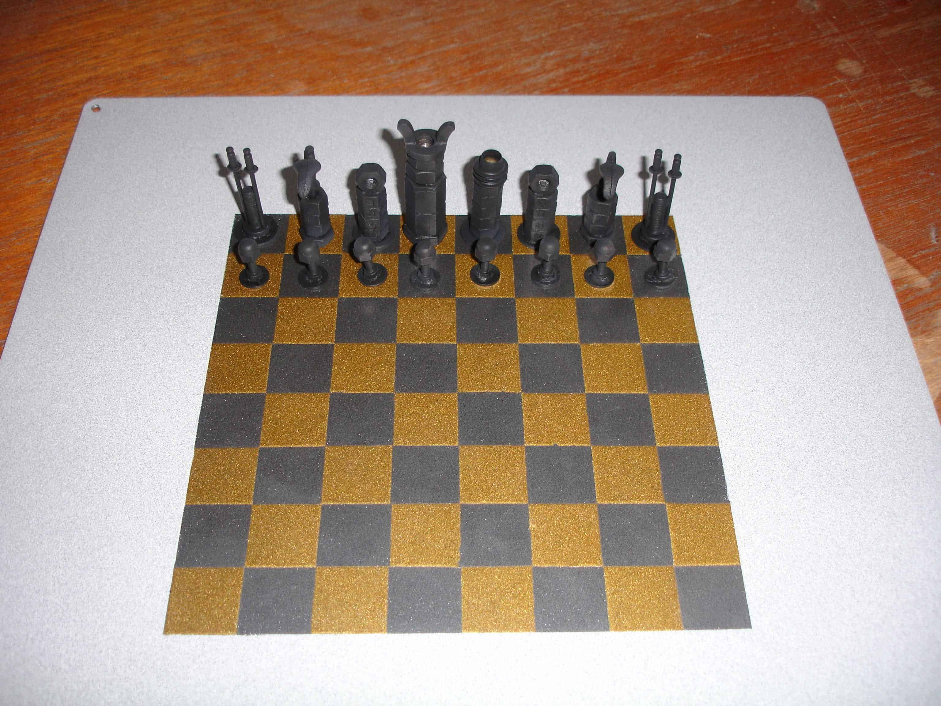 projects ideas metal chess pieces.  Imperial Nuts and Bolts Chess Set Recyclart
